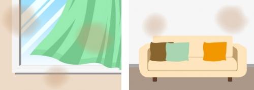 カーテンやソファにタバコの臭い